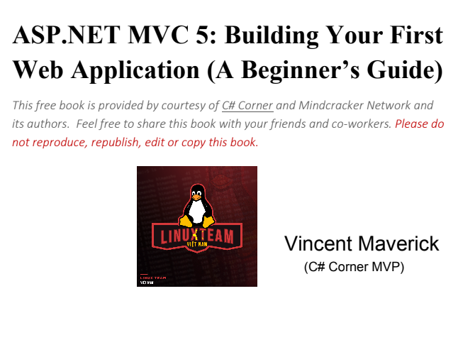 ASP.NET MVC 5: Building Your First Web Application (A Beginner's Guide)